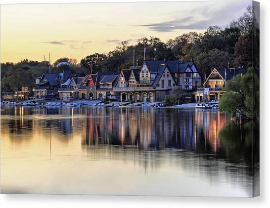 Boat House Row In Philadelphia  Canvas Print