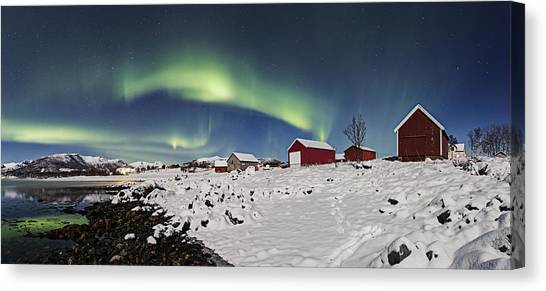 Boat Houses Canvas Print by Frank Olsen