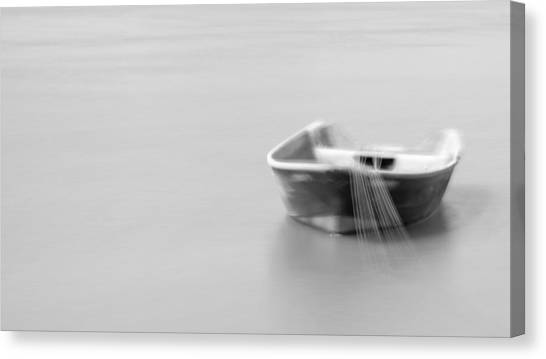 Boat In Water Canvas Print