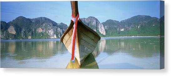 Phi Phi Island Canvas Print - Boat Moored In The Water, Phi Phi by Panoramic Images