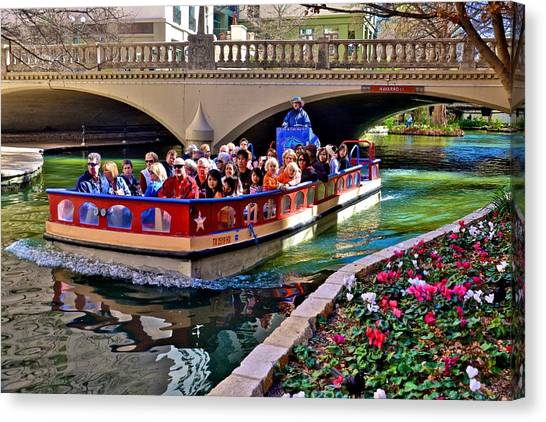 Boat Ride At The Riverwalk Canvas Print