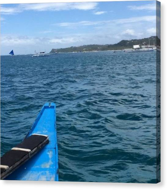 Snorkling Canvas Print - Boat Ride In #boracay. #snorkling by Dhoris Pellos