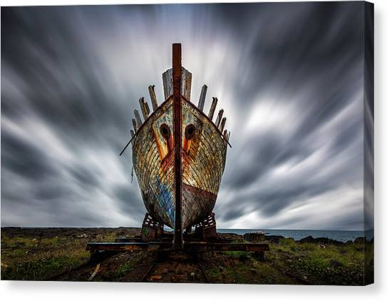 Construction Canvas Print - Boat by Sus Bogaerts