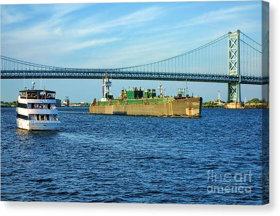 Cruise Ships Canvas Print - Boat Traffic by Olivier Le Queinec