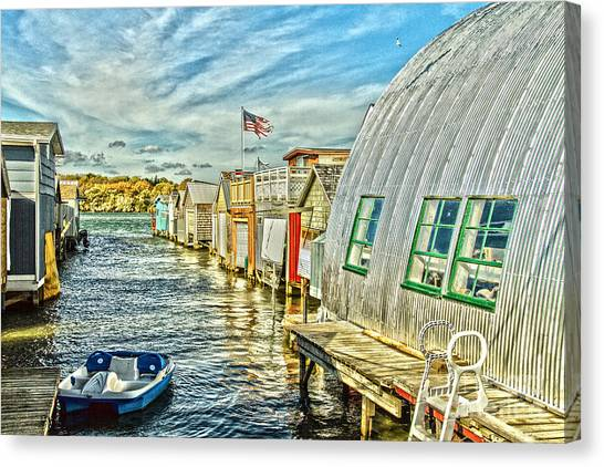 Boathouse Alley Canvas Print