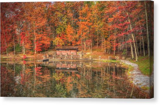 Boathouse At Boley Lake Canvas Print