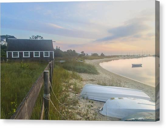 Boathouse At Dawn Canvas Print