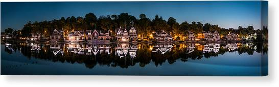 Boathouse Row Panorama Canvas Print