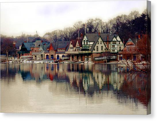 Temple Canvas Print - Boathouse Row Philadelphia by Tom Gari Gallery-Three-Photography