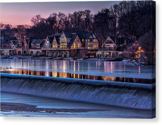 Boathouse Row Canvas Print