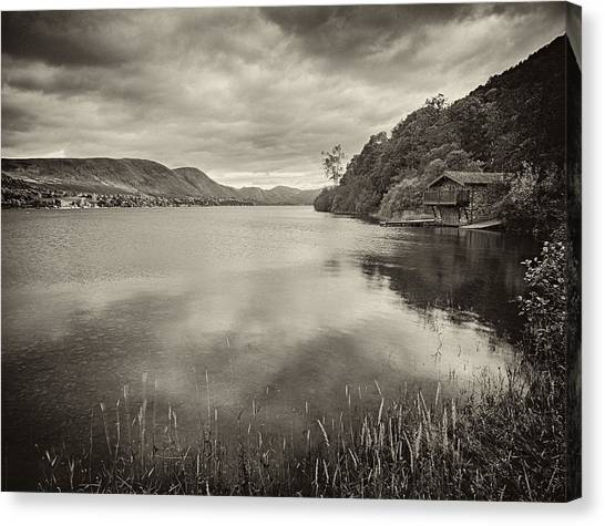 Boathouse Ullswater Canvas Print by Graham Moore