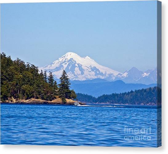 Boating On Puget Sound Canvas Print
