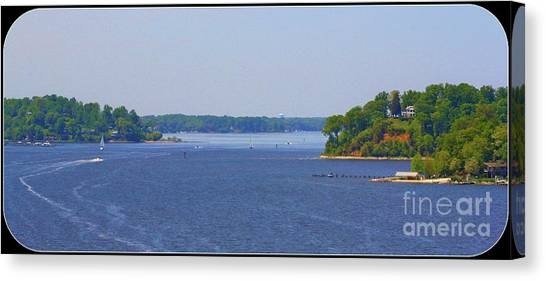 Boating On The Severn River Canvas Print