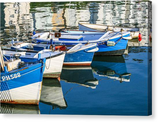 Boats At Anchor Canvas Print