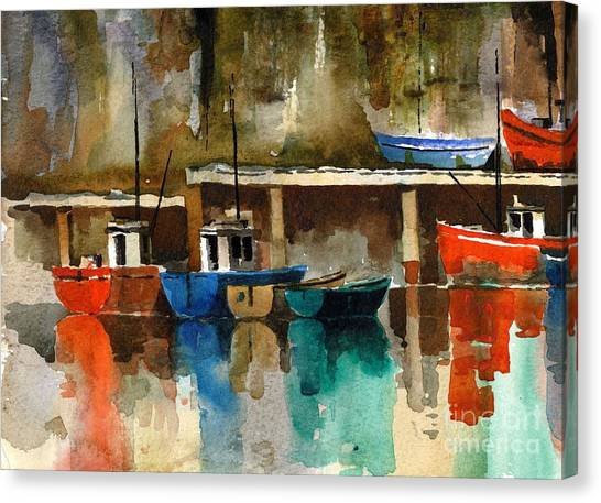 Waterford Canvas Print - Boats At Rest  Dunmore East  Wateford by Val Byrne