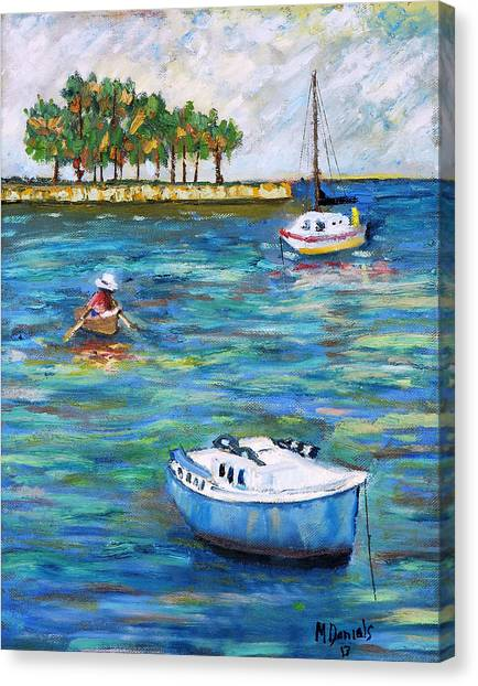 Boats At St Petersburg Canvas Print
