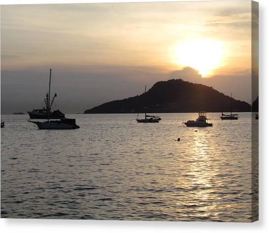Boats At Sunrise Canvas Print