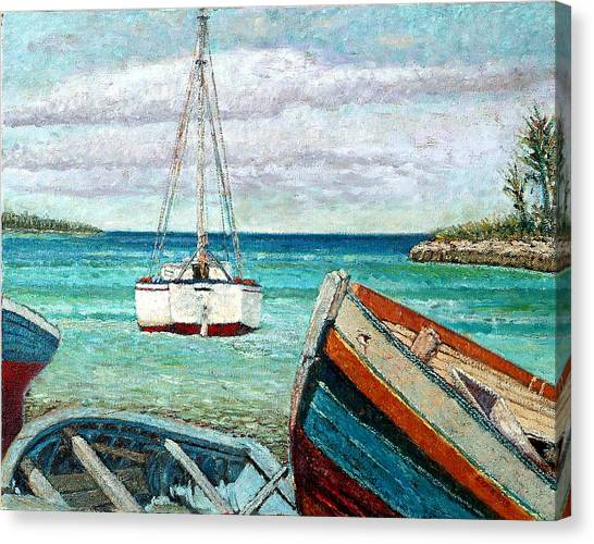 Boats By The Bay Canvas Print