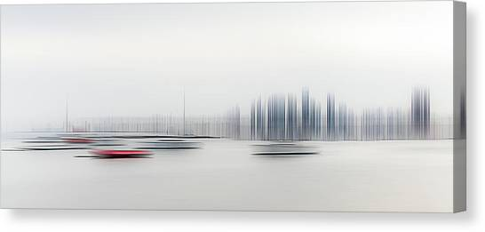 Harbour Canvas Print - Boats In The Harbour by Richard Adams