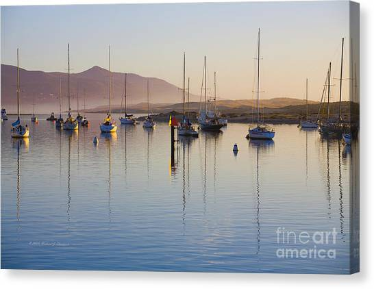 Boats Mooring Canvas Print