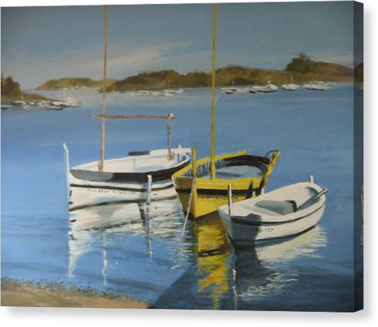 boats of Cadaques Canvas Print by Clive Holden