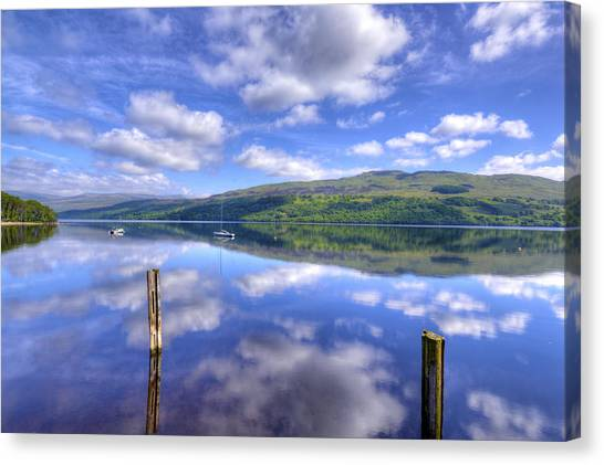 Boats On Loch Tay Canvas Print