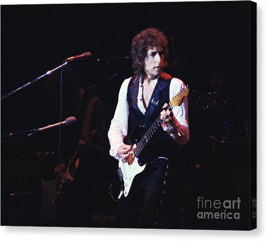 Chris Walter Canvas Print - Bob Dylan 1978 by Chris Walter