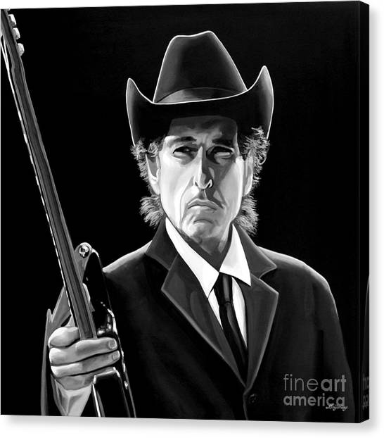 Bob Dylan 2 Canvas Print by Meijering Manupix