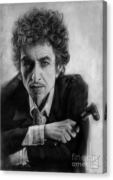 Bob Dylan Canvas Print - Bob Dylan by Andre Koekemoer