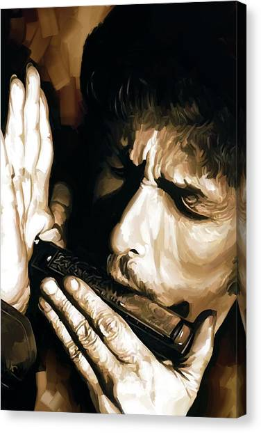 Bob Dylan Canvas Print - Bob Dylan Artwork 2 by Sheraz A
