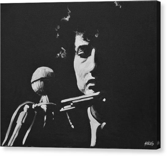 Bob Dylan Canvas Print by Melissa O'Brien