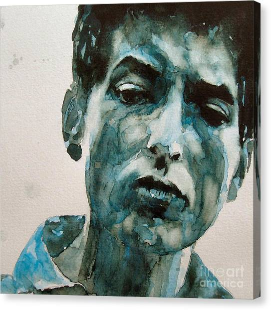 Singers Canvas Print - Bob Dylan by Paul Lovering