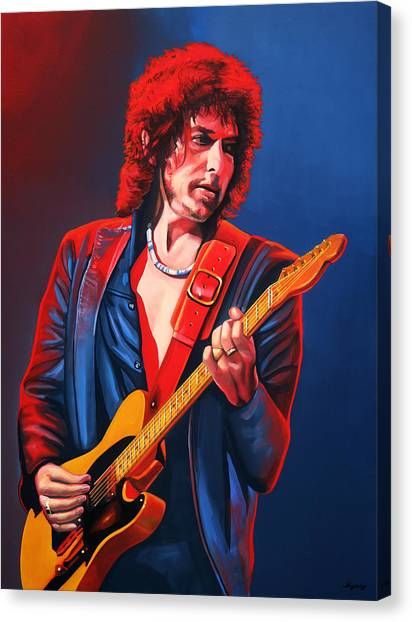 Heaven Canvas Print - Bob Dylan Painting by Paul Meijering