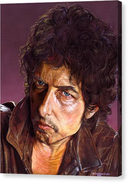 Bob Dylan Canvas Print - Bob Dylan by Timothy Scoggins