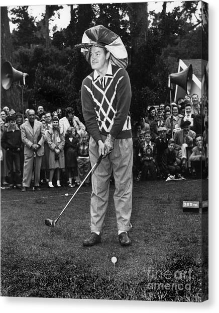 Bob Hope At Bing Crosby National Pro-am Golf Championship  Pebble Beach Circa 1955 Canvas Print