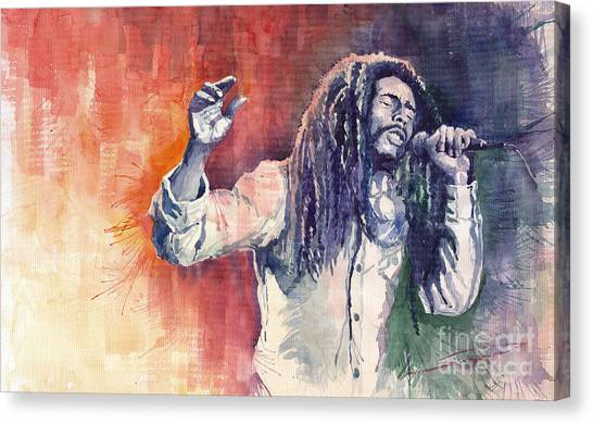 Bob Canvas Print - Bob Marley 01 by Yuriy Shevchuk