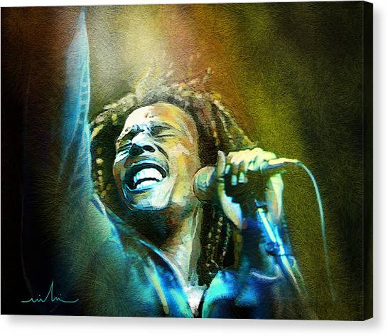 Bob Marley 06 Canvas Print