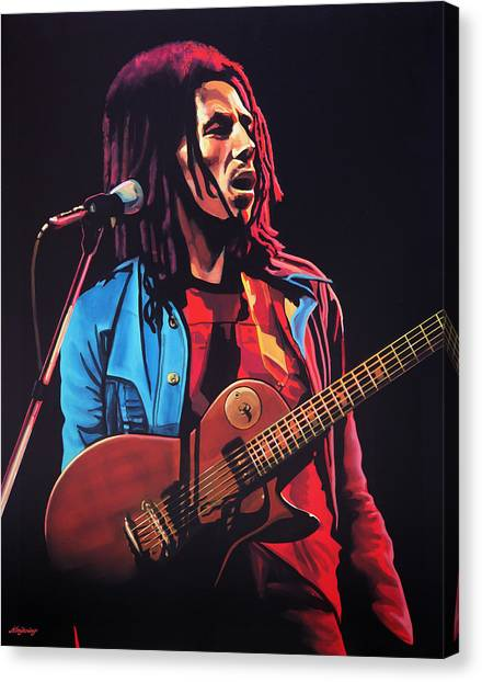 Jamaican Canvas Print - Bob Marley 2 by Paul Meijering