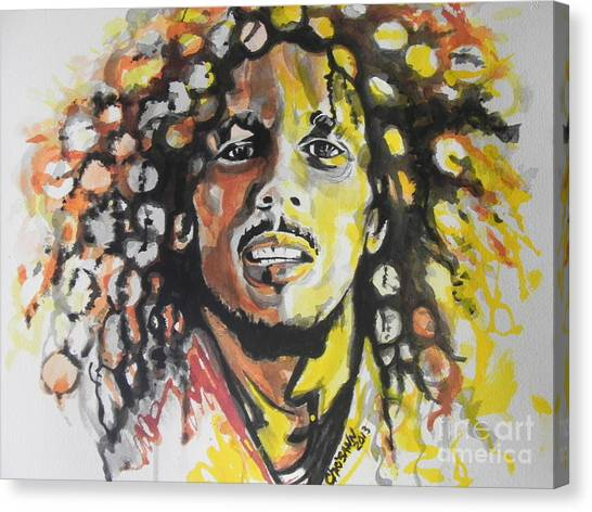Reggie White Canvas Print - Bob Marley 02 by Chrisann Ellis