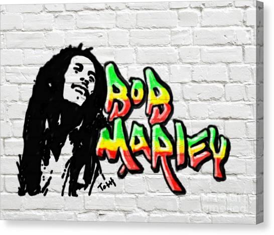 Bob Marley Graffiti 2 Canvas Print