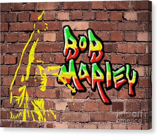 Bob Marley Graffiti Canvas Print