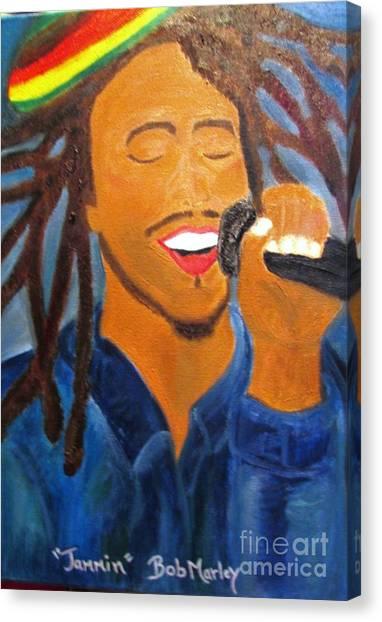 Bob Marley Jammin Canvas Print