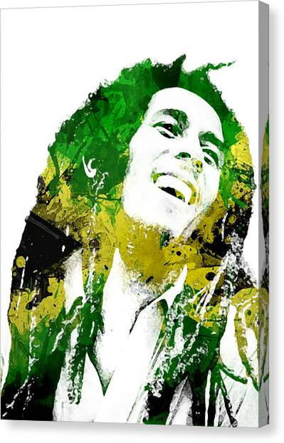 Jamaican Canvas Print - Bob Marley by Mike Maher