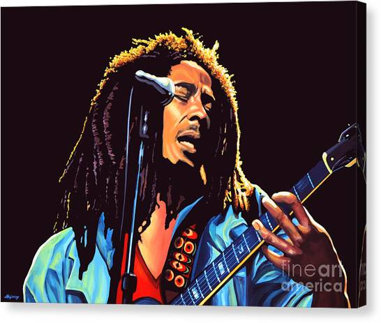 Jamaican Canvas Print - Bob Marley by Paul Meijering