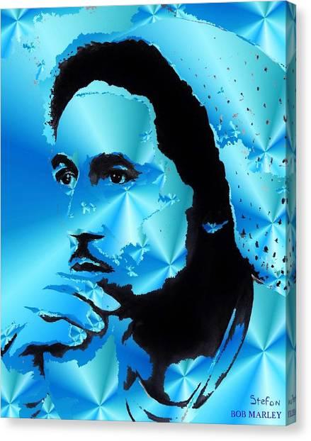 Bob Marley Portrait Canvas Print by Stefon Marc Brown