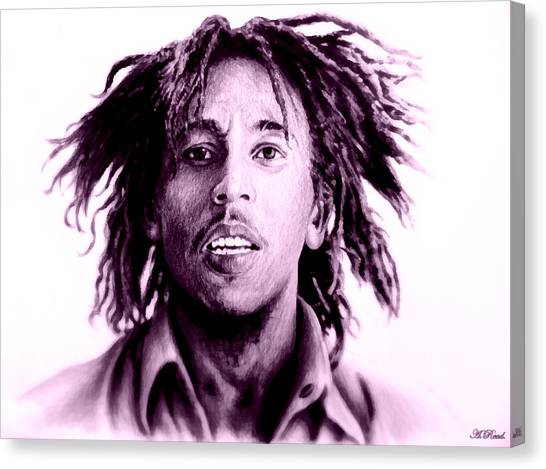Reggie White Canvas Print - Bob Marley   Purple Haze by Andrew Read