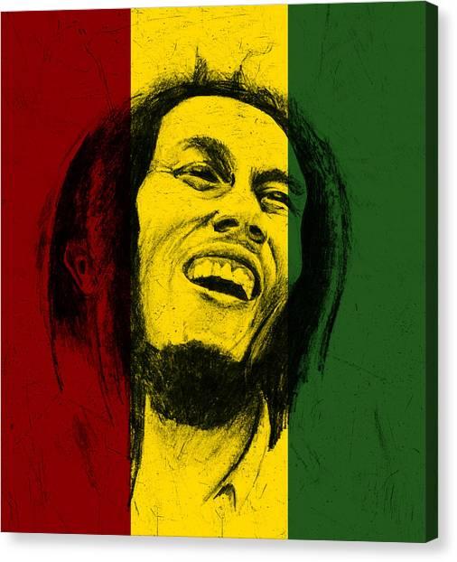 Bob Marley Reggae Tribute Canvas Print by Allan Swart