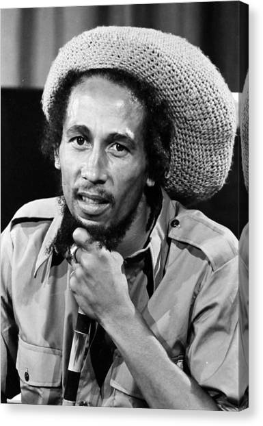 Jamaican Canvas Print - Bob Marley by Retro Images Archive