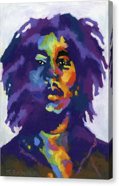 Jamaican Canvas Print - Bob Marley by Stephen Anderson