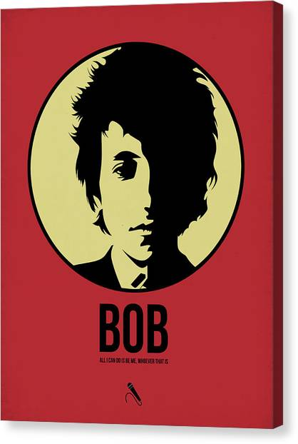 Rock Music Canvas Print - Bob Poster 1 by Naxart Studio